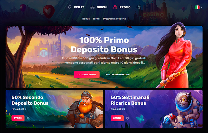 Casinomia Casino bonus
