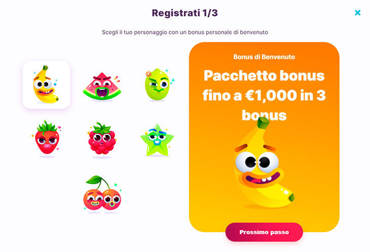 Come registrarsi su Nomini Casino?