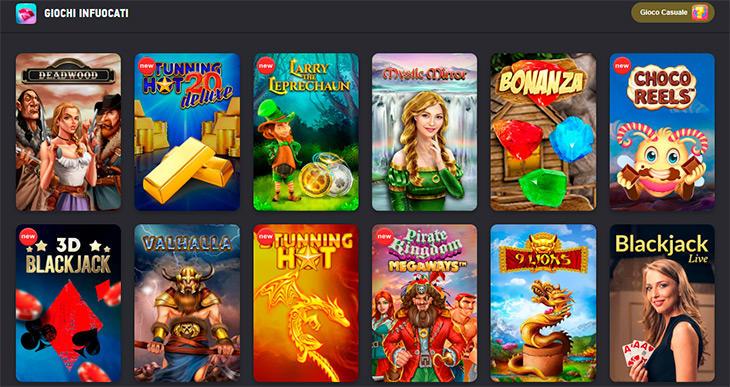 Slot online e altri giochi casinò