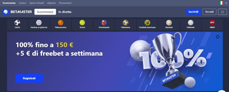 Come registrarsi su Betmaster?