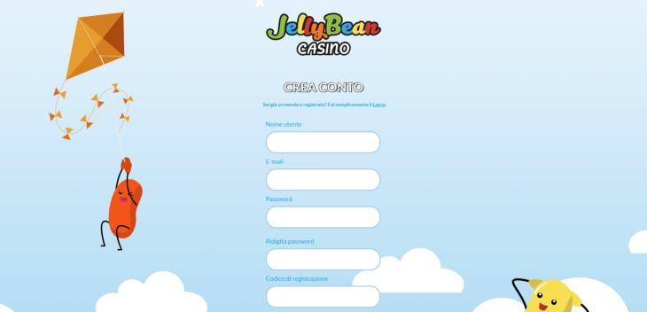 Come registrarsi a JellyBean Casino