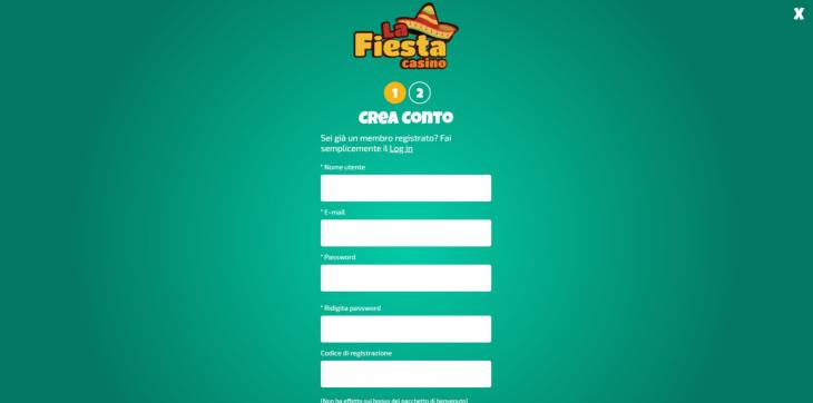 Come registrarsi a La Fiesta Casino