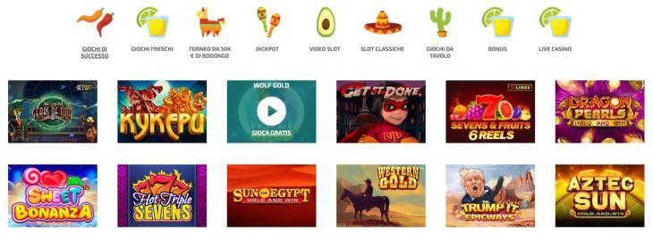 La Fiesta Casino gamma di slot machine online