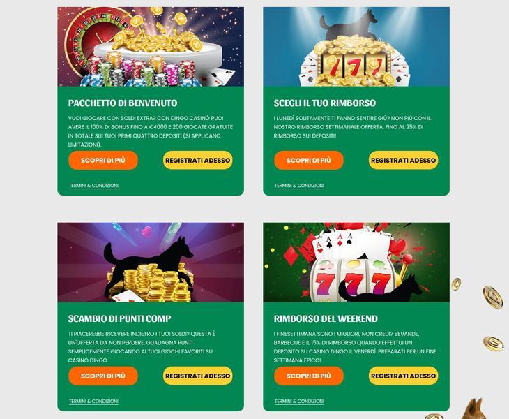 Dingo Casino Bonus e promozioni