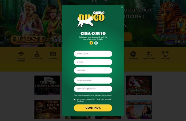 Dingo Casino Registrazione
