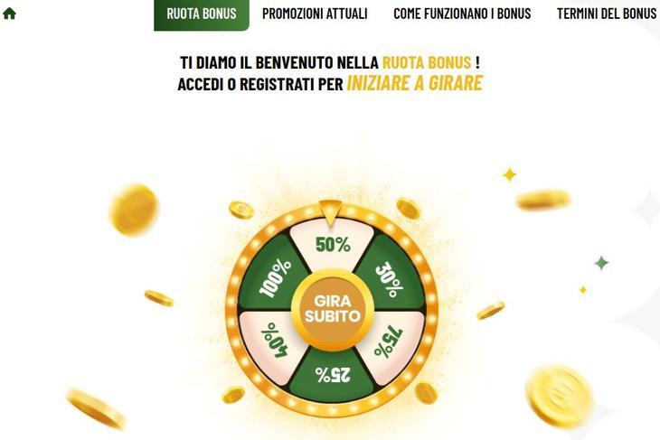 Lista di bonus presenti su MaChance Casino